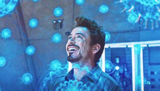 Scene in which Tony Stark discovers a new element