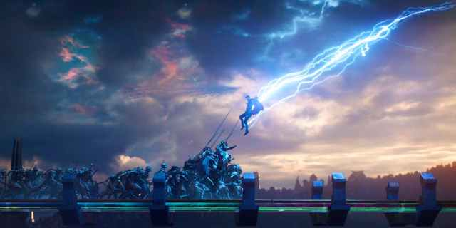 Thor takes on Hela's army