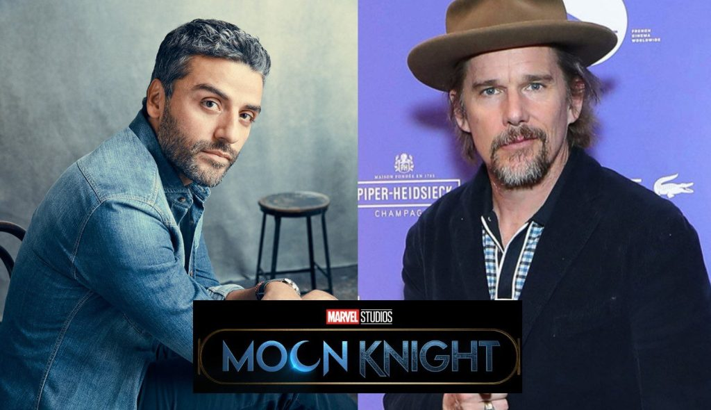 Moon Knight stars Oscar Isaac and Ethan Hawke spotted in Budapest ahead of filming