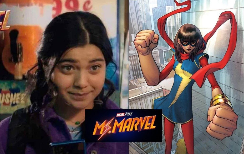 Set photos give us our first look at Iman Vellani in full costume as Ms. Marvel