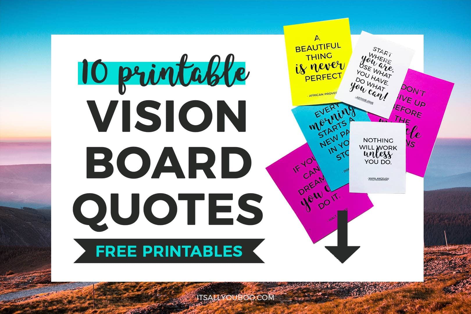 How To Make A Vision Board That Works Free Vision Board
