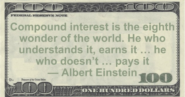 Compound interest is the eighth wonder of the world. He who understands it, earns it ... he who doesn't ... pays it Quote