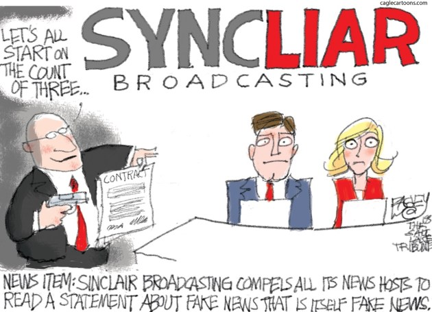 Pat Bagley Sinclair Fake News