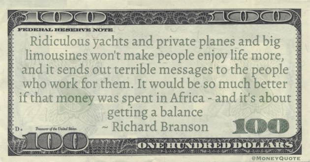 It would be so much better if that money was spent in Africa - and it's about getting a balance Quote