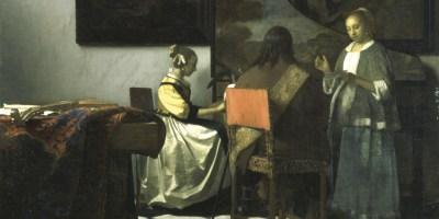 Vermeer, Johannes. The Concert, 1663-1666 via The Isabella Gardner Museum