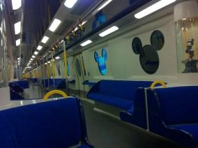 Inner view of Disney MRT