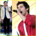 David Archuleta rehearsing the National Anthem and Stand By Me