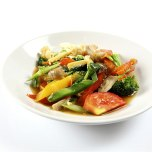 Pick up a vegetable stir-fry from your favorite takeout restaurant