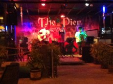 The live band at The Pier