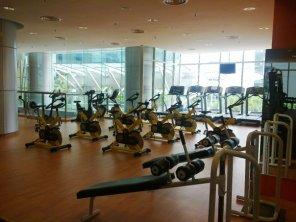 This is what you see as you enter to the righ cr club gymnasium rakyat menara KBS Putrajaya