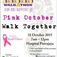 Walkathon For Breast Cancer Awareness : SUPPORT Pink October Walk Together