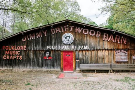 Every weekend, the historic Jimmy Driftwood Barn hosts a variety of local talent with performances of folk, gospel, country, and bluegrass. | Photograph by William Widmer