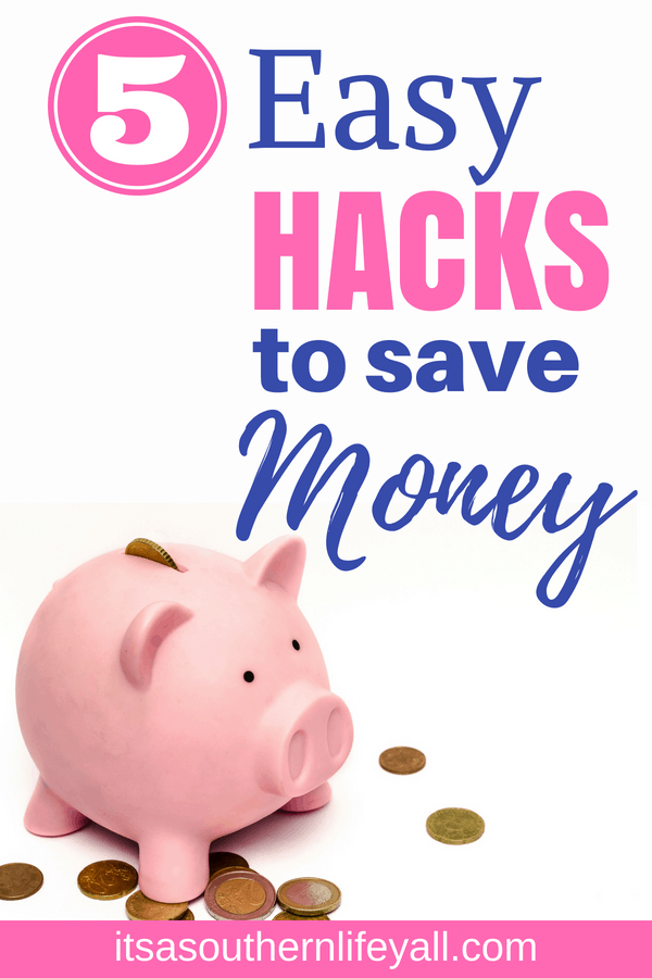 Piggy bank with 5 easy hacks to save money text overlay - Stop Using Alt Tags for Pinterest Pin Descriptions