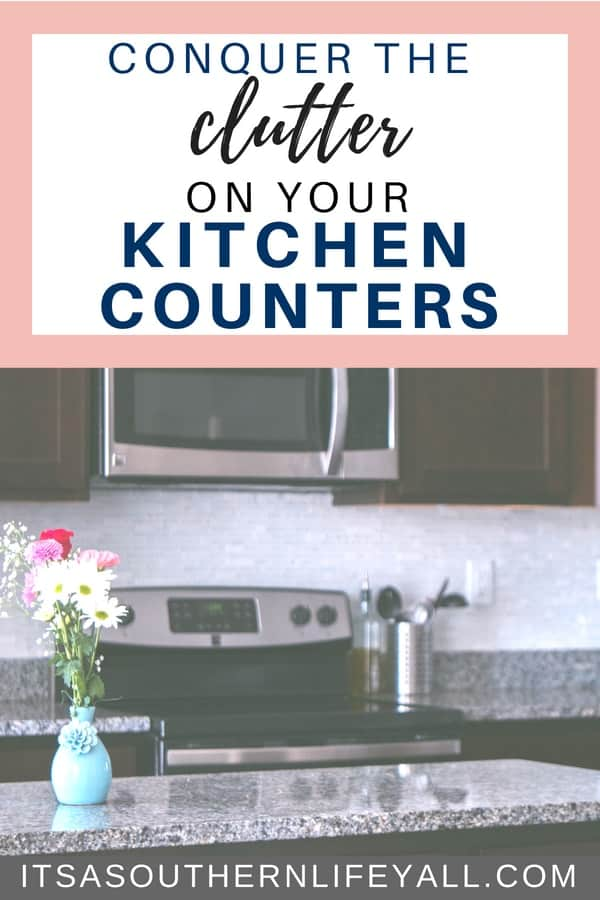 Organizing tips on how to clear the clutter from your kitchen counters. Kitchen organization is easy with these organizing ideas. Conquer the clutter with these simple tips and hacks.