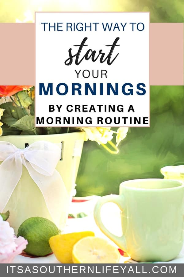 The right way to start your mornings by creating a morning routine. Daily routines help with productivity and time management. Make the most of your time and be your most productive self by having a morning routine to kickstart your day.