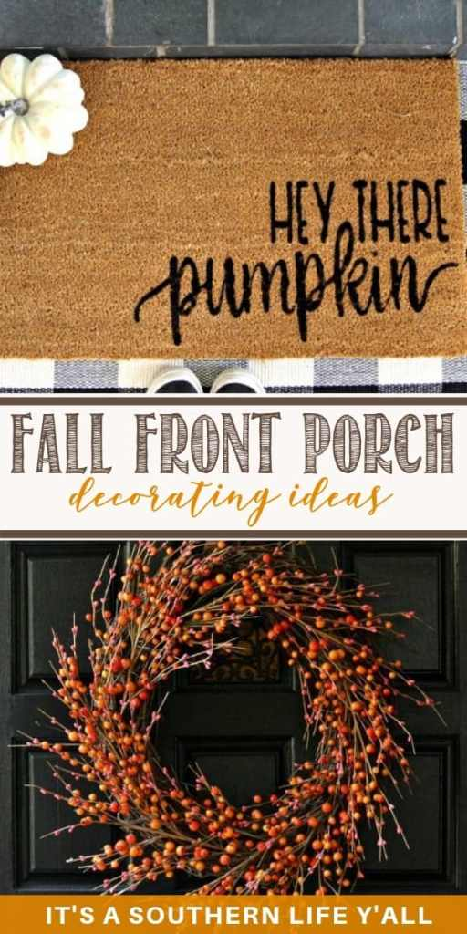 Amazing fall front porch decorating ideas. Easy and cute DIY for your fall front porches.