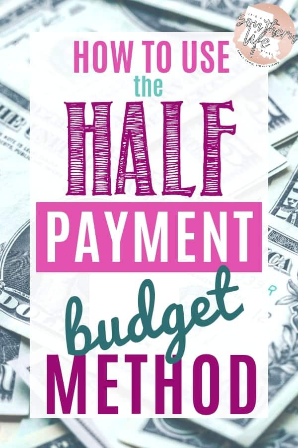 Use the half payment budget method to get your finances on track to help you save money. Stop living paycheck to paycheck and take control of your money using these helpful financial tips when you get paid biweekly.