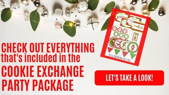 Host your a Cookie Exchange Party using this party package full of printable decorations, invitations, labels, and so much more!