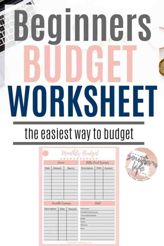 Beginners budget worksheet the easiest way to budget