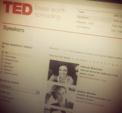 Officially listed as a speaker on TED.com in November 2012.