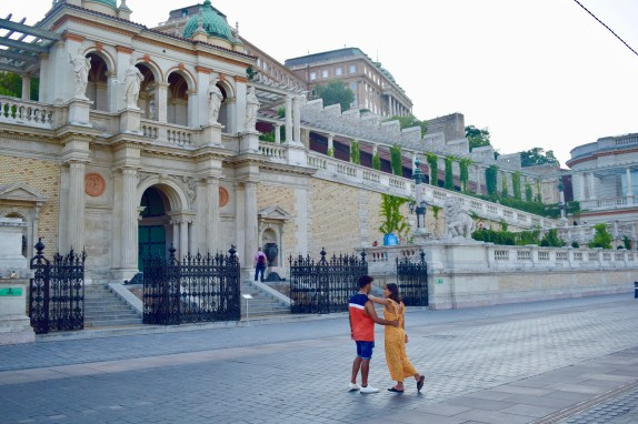 budapest hungary europe buda castle couple travel