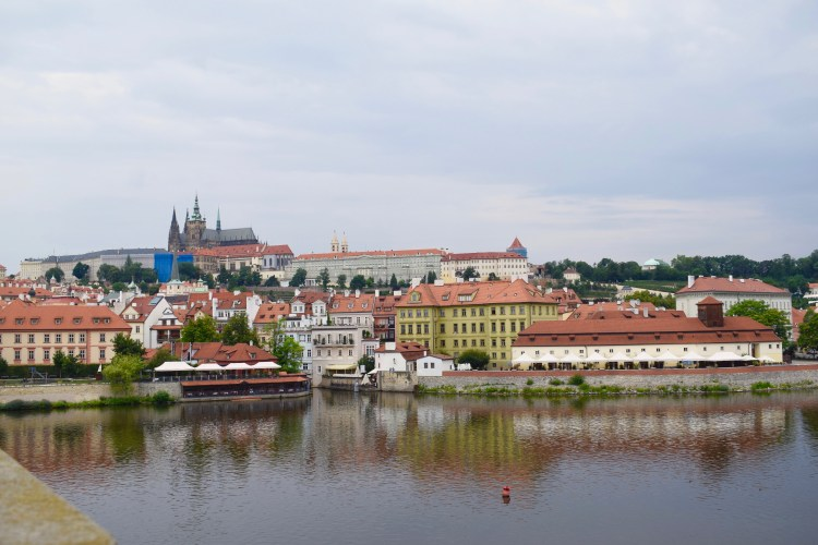 View of Prague city from the Charles' Bridge