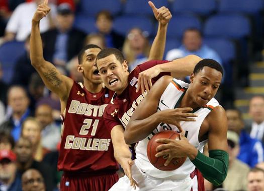 miami hurricanes boston college eagles acc basketball tournament greensboro second round the u allcanes