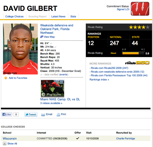 david gilbert wisconsin badgers transfer al golden miami hurricanes