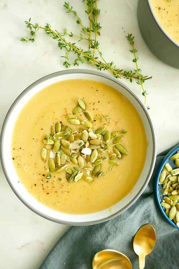 Vegan Butternut Squash and Pear Soup