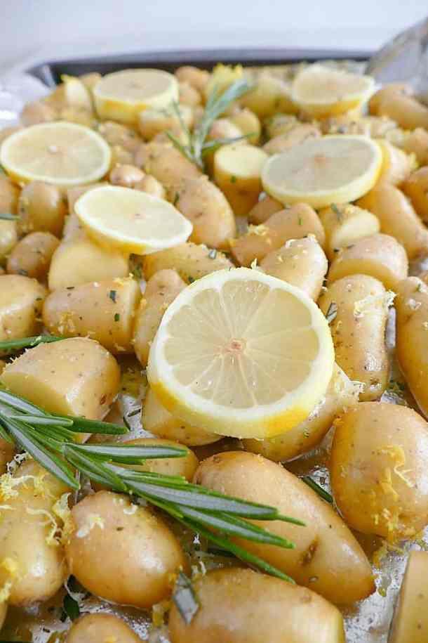 Lemon Rosemary Roasted Fingerling Potatoes 2