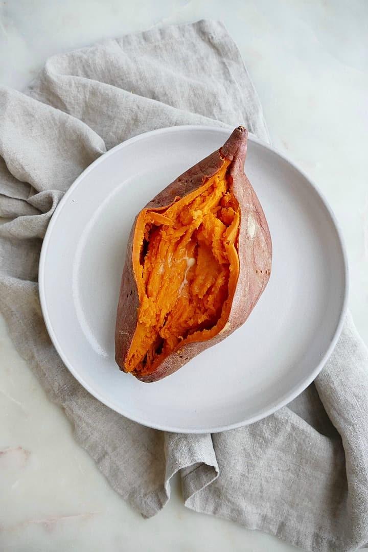 microwave sweet potato