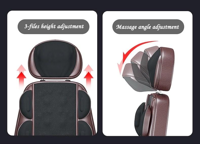 LEK 918L Electric vibrate back massager cheap body shoulder Heating massage chair sofa machine Neck masage cushion pillow chair