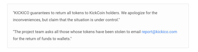 Notification from KICKICO