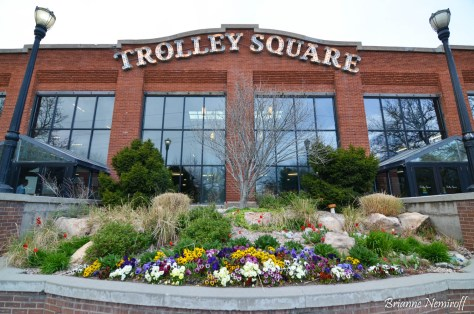 The sign at Trolley Square in Salt Lake City