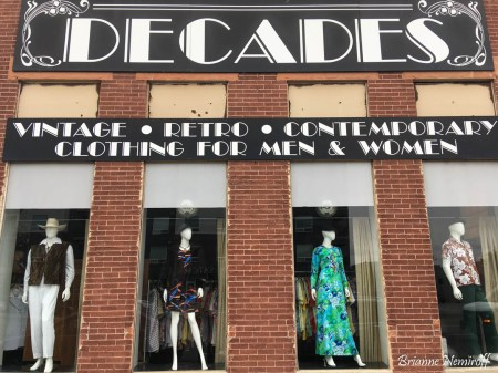 The outside of Decades Vintage Clothing in Salt Lake City