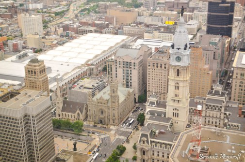 A view of Philadelphia City Hall from One Liberty Observation Deck