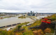 A view of the Pittsburgh skyline from the Duquesne Incline