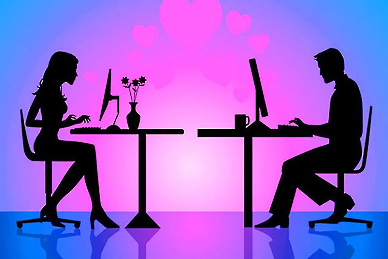 Donna dipendente da incontri online