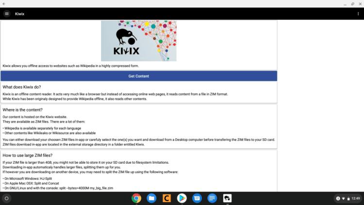 Setting up Kiwix: An Offline Wikipedia Reader – ItsChromeOS