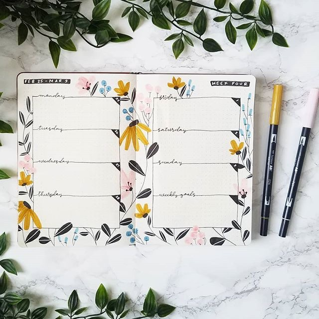 Flowers-bullet-journal-theme