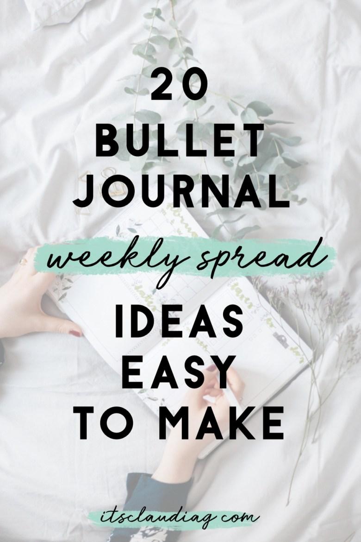 easy bullet journal weekly spreads