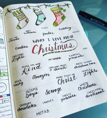Christmas favorites layout