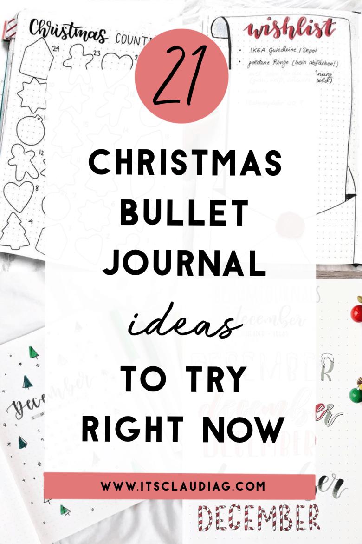 21 Christmas Bullet Journal Ideas For December