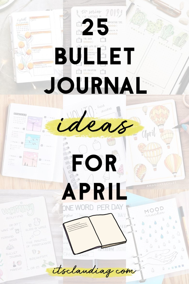 25 bullet journal ideas for april