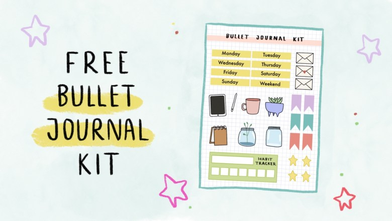 free bullet journal printable