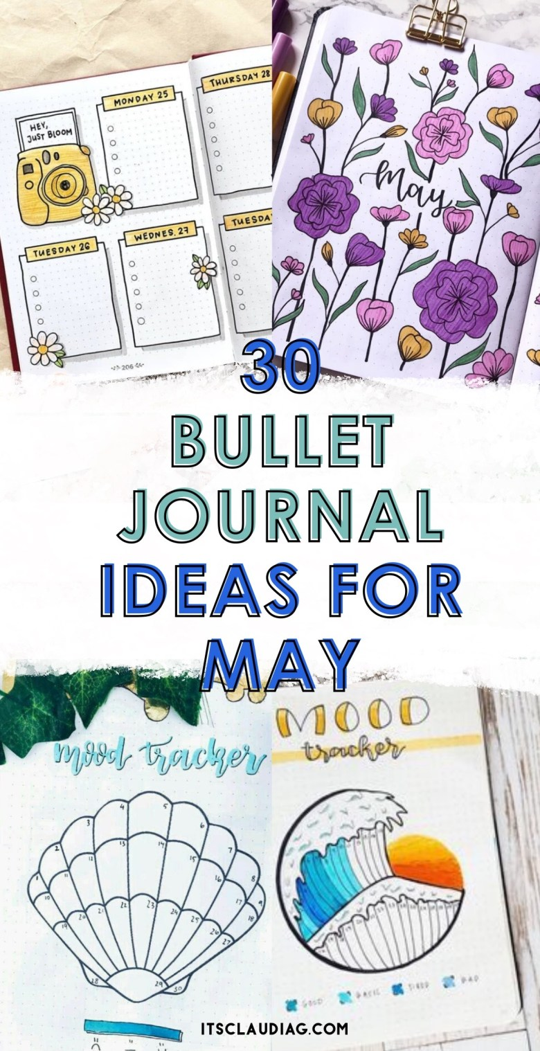 30 bujo spread ideas for may