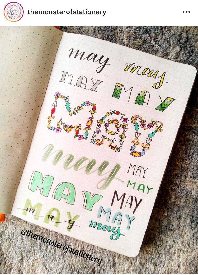 may bujo spread ideas