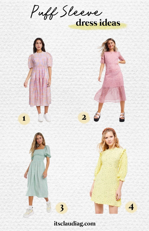 puff sleeve dress ideas