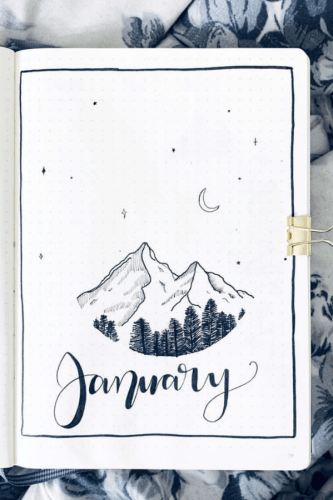 January bullet journal setup