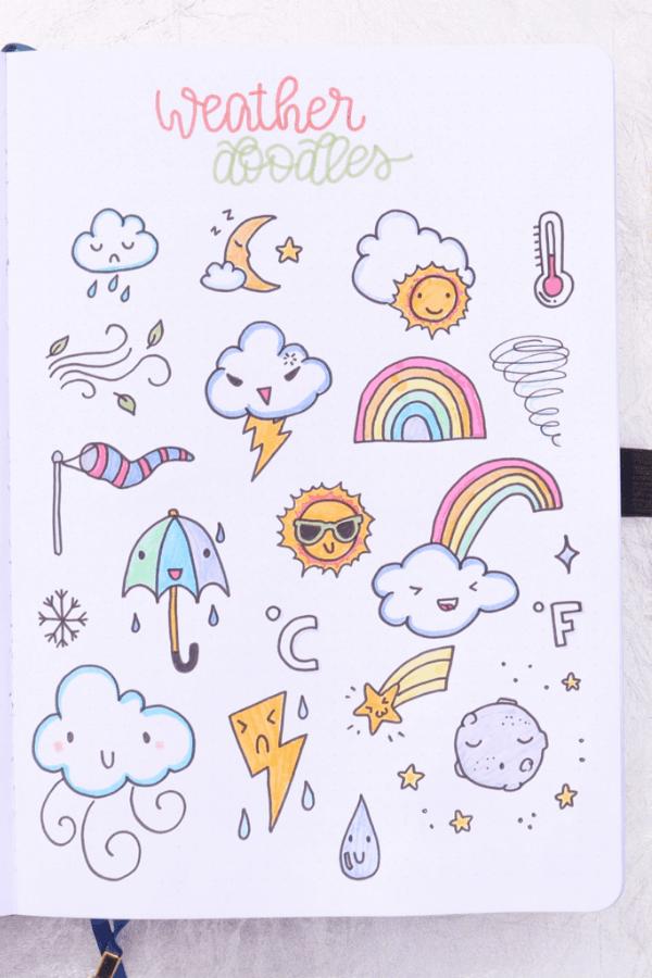 cute bullet journal doodles